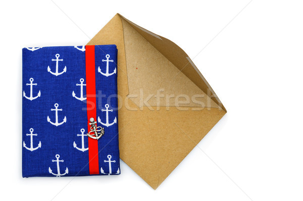 Small notebook with ancor design with envelope Stock photo © svetography