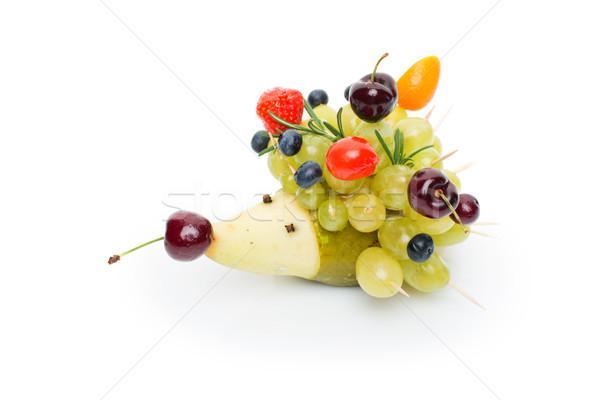 фрукты форма еж красивой изолированный Сток-фото © svetography