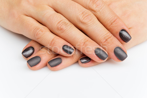 Woman hands with grey nails Stock photo © svetography