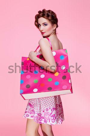 Güzel kız elbise saç güzel genç kadın uzun Stok fotoğraf © svetography