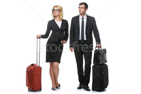 бизнесмен деловой женщины путешествия красивой бизнеса Lady Сток-фото © svetography