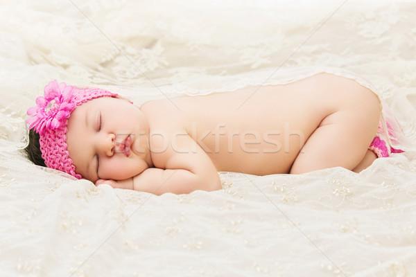Sleeping baby girl Stock photo © svetography