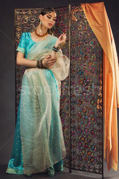 Beautiful woman in sari Stock photo © svetography