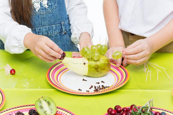 детей фрукты еж выстрел Сток-фото © svetography