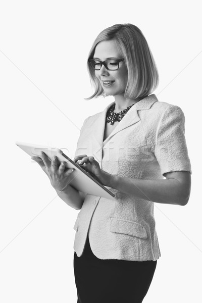 Business woman with tablet Stock photo © svetography