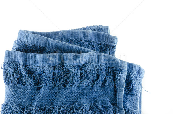 Fabric blue towel Stock photo © sweetcrisis
