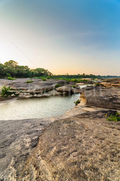 Sampanbok in Mekong River, Ubon Ratchathani, Thailand Stock photo © sweetcrisis