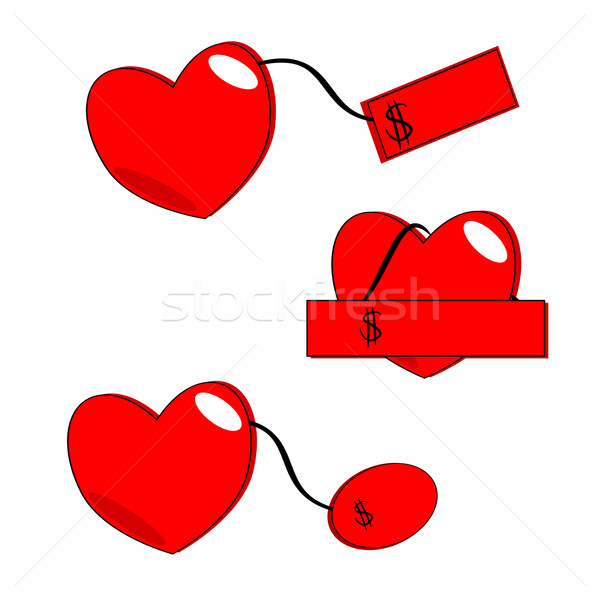 Stock photo: Heart price tags vector