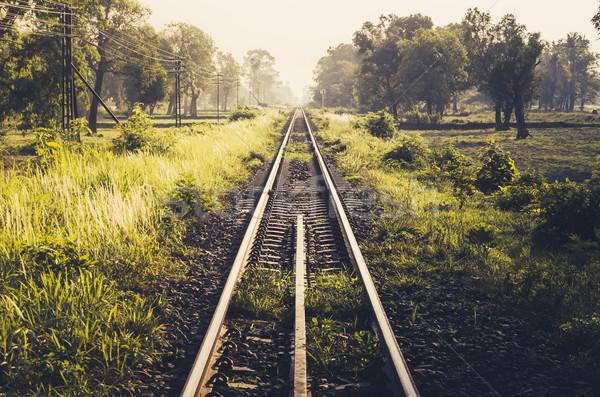 Ferrovia dia Tailândia céu natureza Foto stock © sweetcrisis