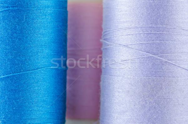 Fonál varr hobbi szerszámok szövet színek Stock fotó © sweetcrisis
