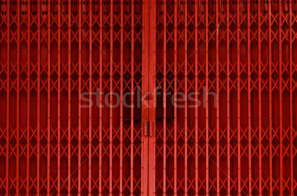orange iron door Stock photo © sweetcrisis