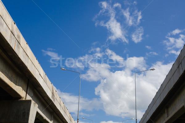 Expressz út rusztikus város utca autók Stock fotó © sweetcrisis