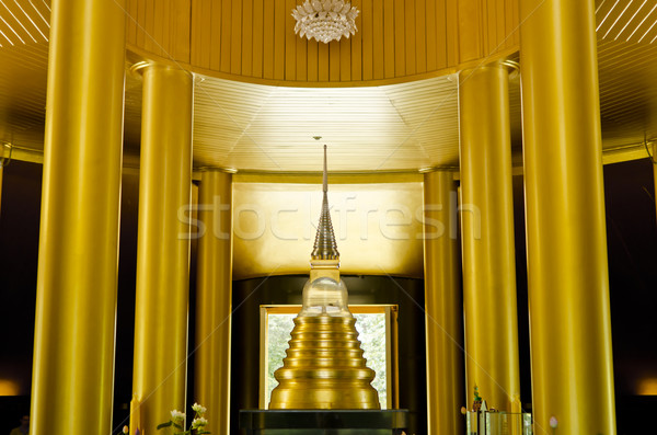 inside gold temple in Wat nong pah pong in Thailand Stock photo © sweetcrisis