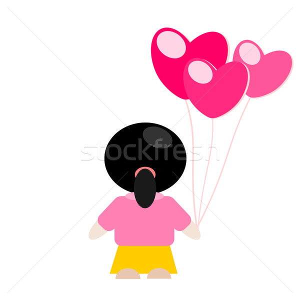 Stock photo: Girl in love vector