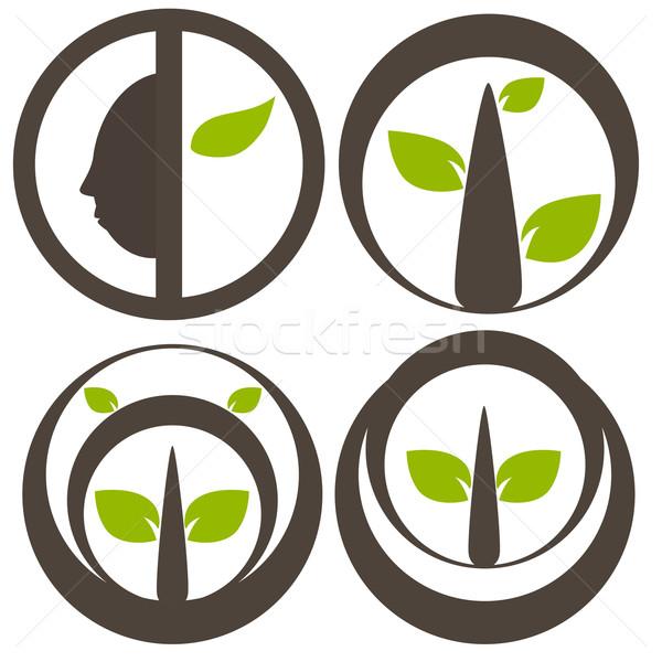 Natureza árvore símbolo ilustração ecologia mundo Foto stock © sweetcrisis
