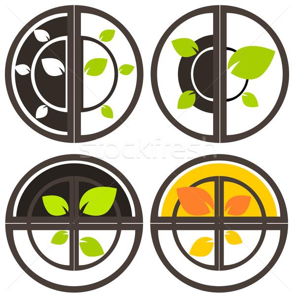 自然 ツリー シンボル 実例 生態学 世界 ストックフォト © sweetcrisis