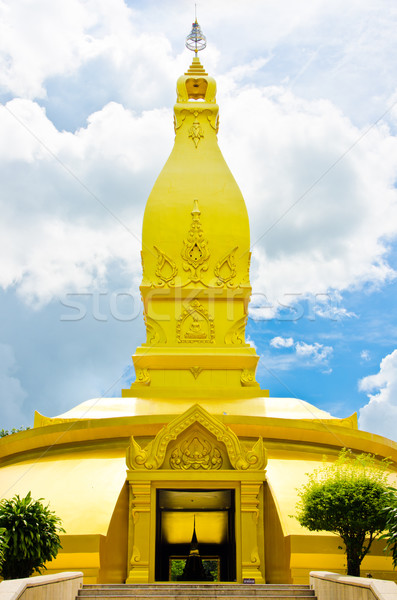 gold temple in Wat nong pah pong and blue sky Stock photo © sweetcrisis