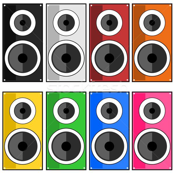 Speaker illustration Stock photo © sweetcrisis