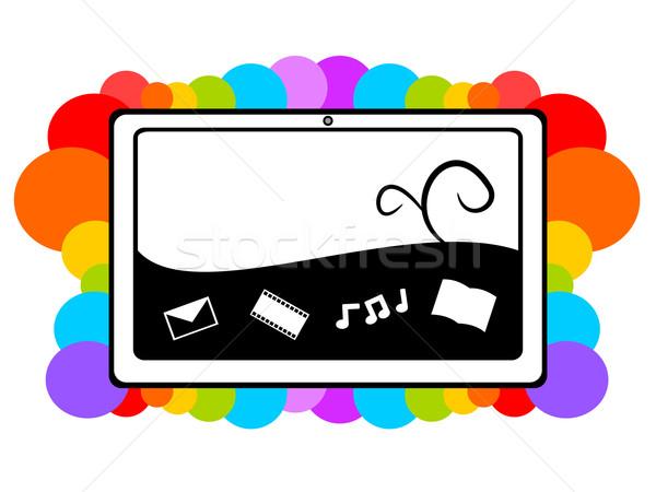 タブレット マルチメディア 実例 1 技術 ストックフォト © sweetcrisis