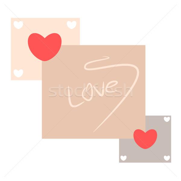 Abstract amore cuore illustrazione felice arte Foto d'archivio © sweetcrisis
