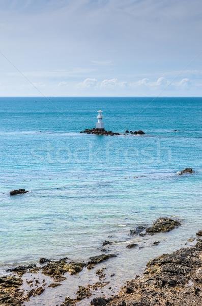 Fehér világítótorony tenger kék ég Thaiföld ház Stock fotó © sweetcrisis