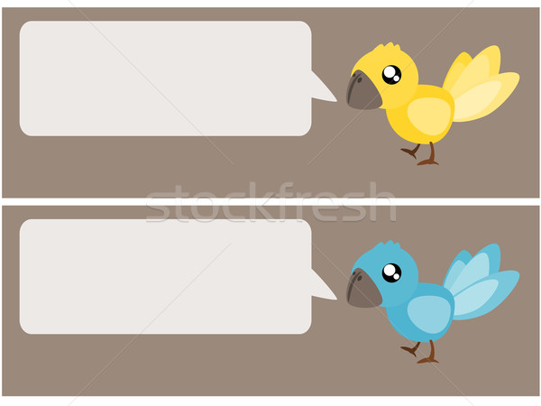 Oiseau parler illustration tweet sociale Photo stock © sweetcrisis