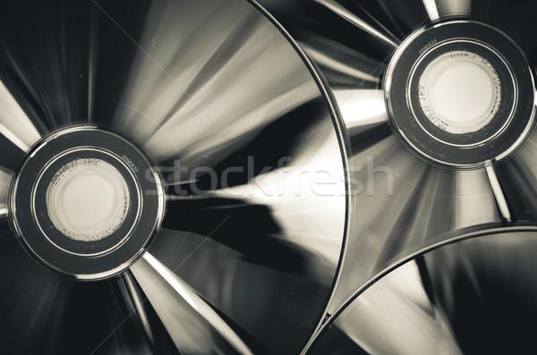 Cd compacto disco branco fundo cor Foto stock © sweetcrisis