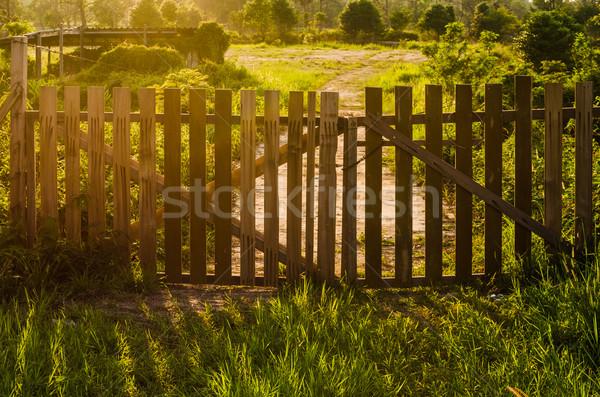wooden fence Stock photo © sweetcrisis
