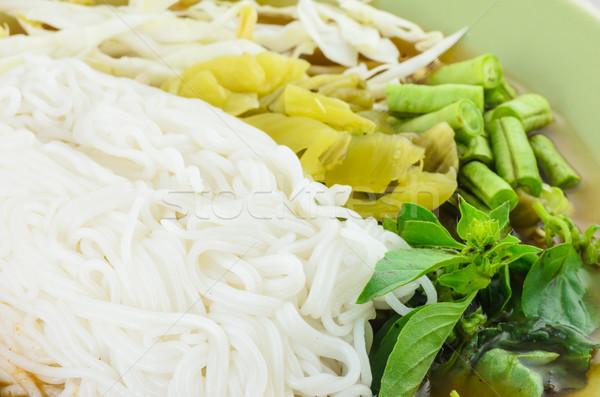 Noodle of Thai Stock photo © sweetcrisis