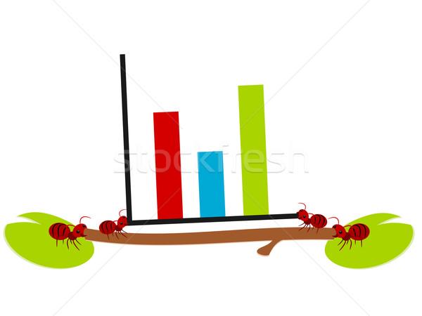 Rosso formiche grafico illustrazione lavoro di squadra potere Foto d'archivio © sweetcrisis