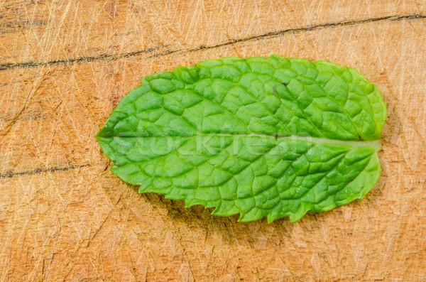 мята листьев древесины коричневый Сырая пища природы Сток-фото © sweetcrisis