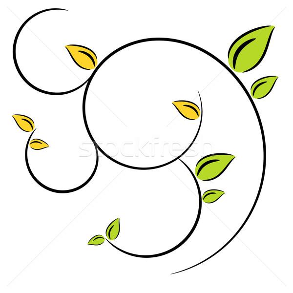 Nature tree symbol illustration Stock photo © sweetcrisis