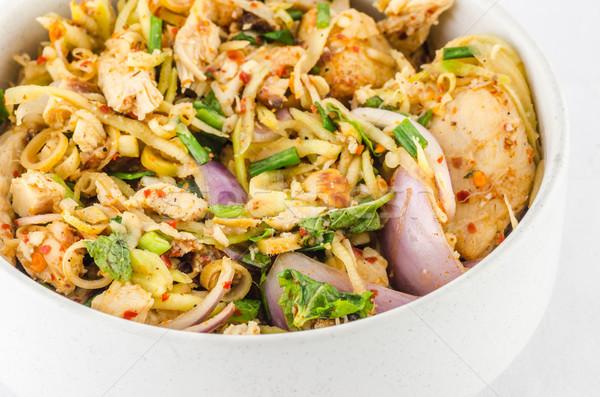 Thai étel disznóhús thai étel fehér hús Stock fotó © sweetcrisis