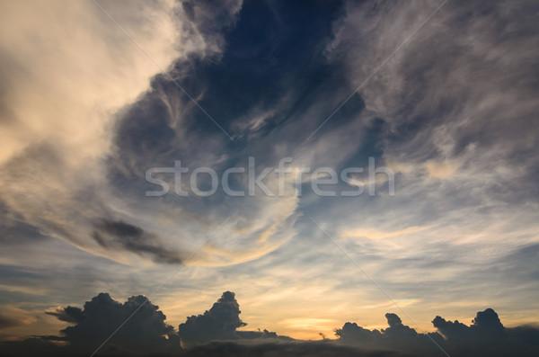 Wolk licht hemel lichtblauw natuur ruimte Stockfoto © sweetcrisis