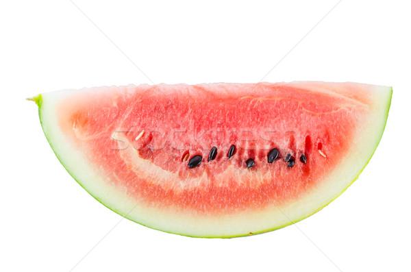Víz dinnye szelet fehér édes gyümölcs Stock fotó © sweetcrisis