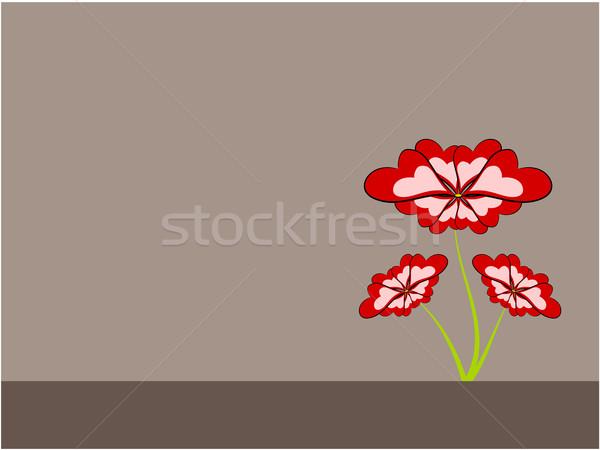 Stock fotó: Virág · illusztráció · rajz · béke · természet · háttér