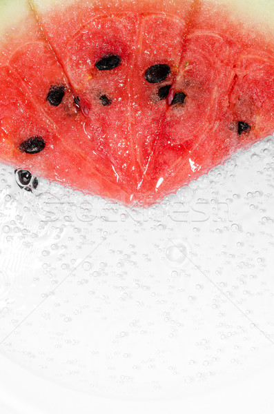воды дыня ломтик белый Sweet фрукты Сток-фото © sweetcrisis