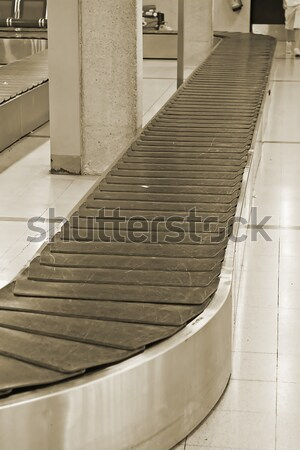 Empty baggage belt Stock photo © swisshippo