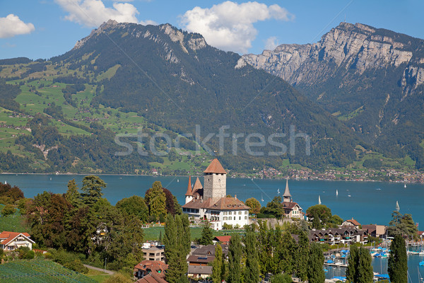 Stock photo: Spiez castle