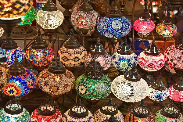 Geleneksel türk lambalar pazar cam seyahat Stok fotoğraf © swisshippo