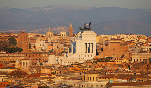 Stock photo: Rome at the sunset