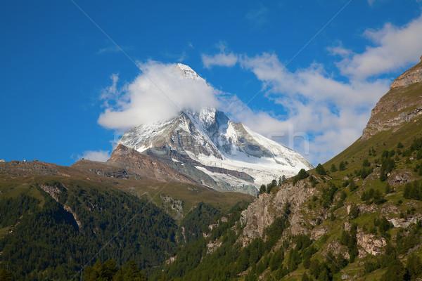 ünlü dağ gökyüzü manzara güzellik Stok fotoğraf © swisshippo