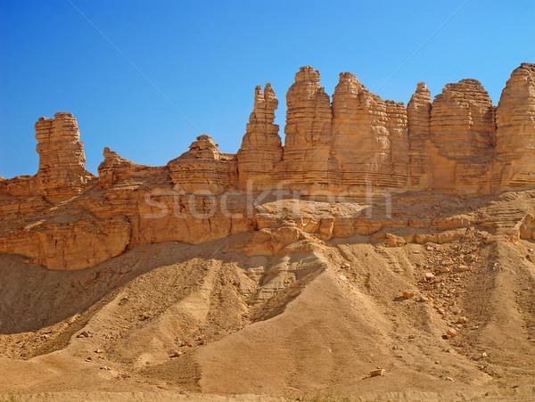 粘土 岩 リヤド 市 サウジアラビア 自然 ストックフォト © swisshippo