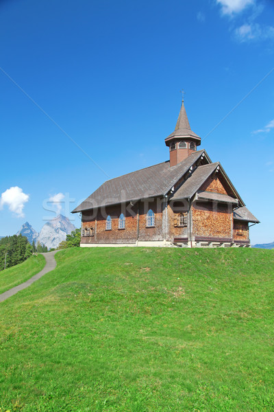 Small wooden church Stock photo © swisshippo