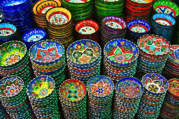 Türk seramik klasik pazar çiçek sanat Stok fotoğraf © swisshippo