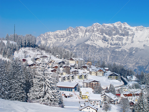 Winter in the alps Stock photo © swisshippo