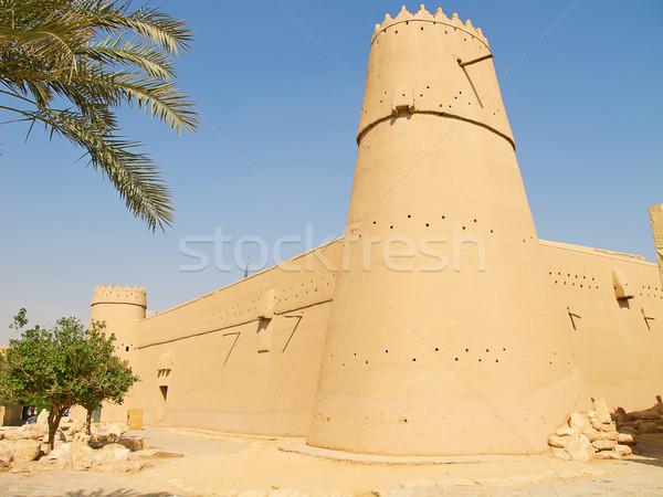 砦 リヤド 市 サウジアラビア 壁 レンガ ストックフォト © swisshippo