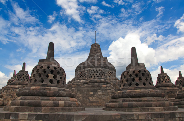 Borobudur temple in Indonesia Stock photo © swisshippo