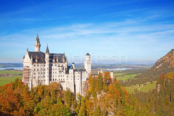 ストックフォト: ノイシュヴァンシュタイン城 · アルプス山脈 · ドイツ · 自然 · 風景 · 山