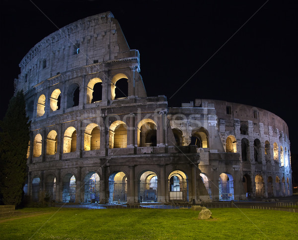 Gece görmek ünlü Roma İtalya mavi Stok fotoğraf © swisshippo